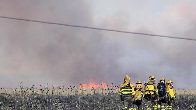 Un incendio desata el «pánico» en Cembranos