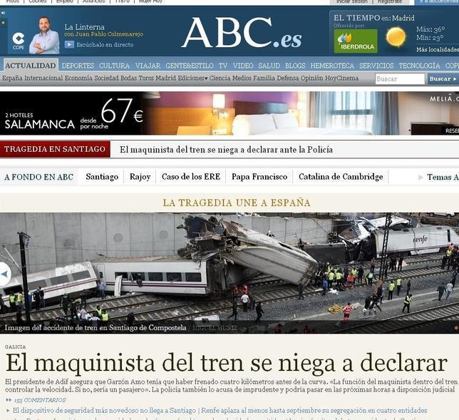 Los lectores nos eligen para informarse sobre el accidente de Santiago