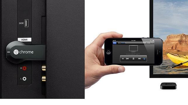 Chromecast y Airplay de Apple luchan por conquistar el salón de estar
