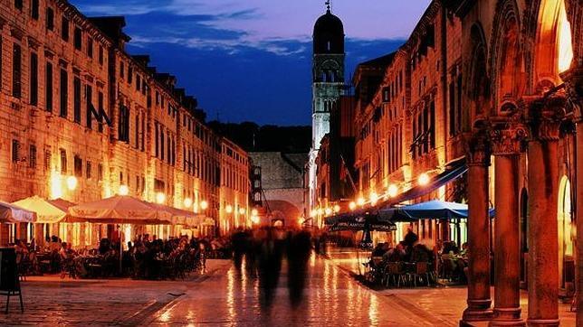 La calle central de Dubrovnik