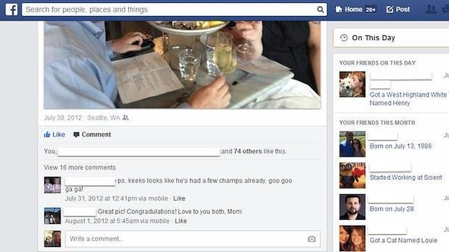 Una máquina del tiempo llamada Facebook
