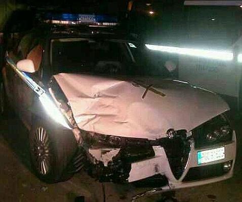 Un capitán de Tráfico de la Guardia Civil sufre un accidente a 180 por hora en la M-40