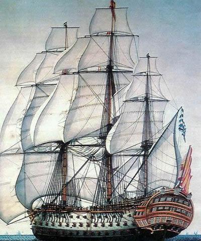 «Santísima Trinidad»: el «Escorial de los mares» hundido tras la Batalla de Trafalgar