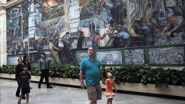 La bancarrota de Detroit pone en peligro doce murales de Diego Rivera