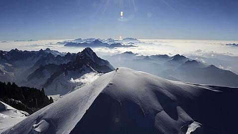 Vista aérea del Mont-Blanc