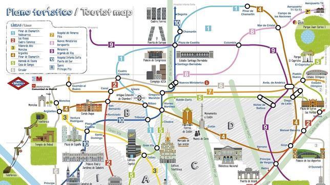 Metro Crea Un Nuevo Plano Para Turistas Ilustrado Con Los