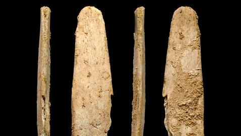 Alisadores de hueso neandertales hallados en el yacimiento de Abri Peyrony