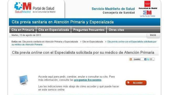 Los madrile os ya pueden elegir m dico especialista por internet - Para pedir cita para el medico de cabecera ...
