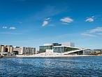Vistas de la Casa de la Ópera en Oslo