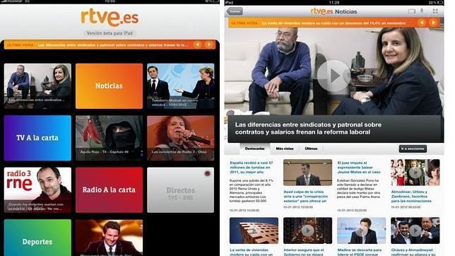 RTVE para iPad, elegida la mejor «app» de programas audiovisuales