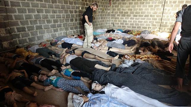 La oposición siria denuncia un ataque químico con más de 1.000 muertos cerca de Damasco
