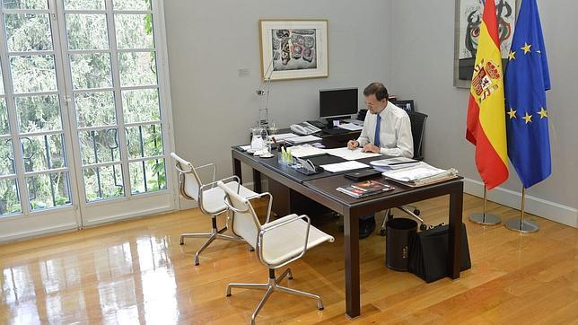 Así es el despacho de Mariano Rajoy