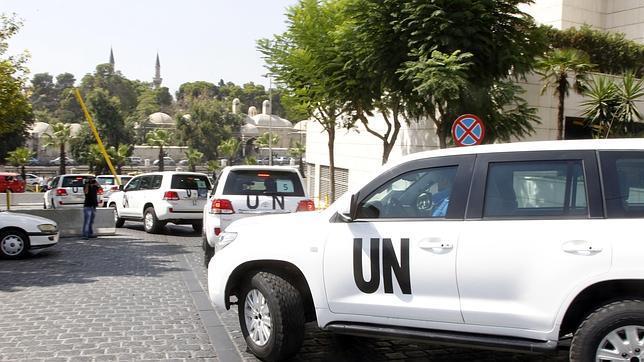 Los inspectores de la ONU se dirigen al barrio de Jobar en Damasco, donde fue el ataque químico