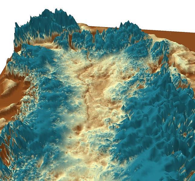 Descubren un megacañón bajo el hielo de Groenlandia