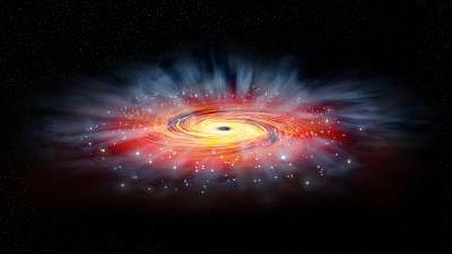 El agujero negro de nuestra galaxia cierra la boca