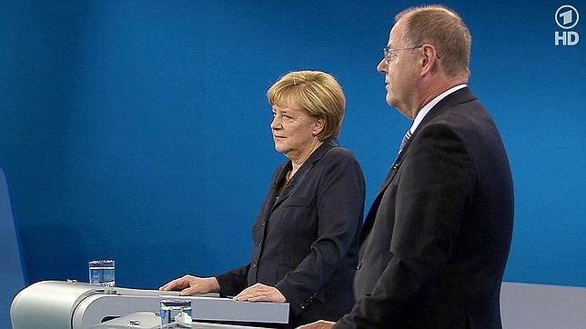 Merkel se impone al socialdemócrata Steinbrück en el primer y último debate televisivo de la campaña alemana