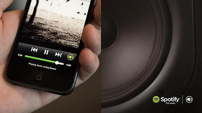 Spotify lanza «Connect», un servicio que que permite transmitir música a altavoces