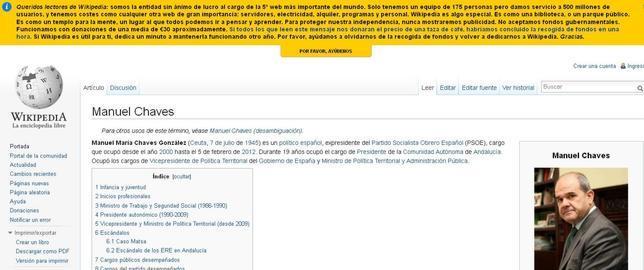 Wikipedia vuelve a pedir auxilio a sus 500 millones de usuarios