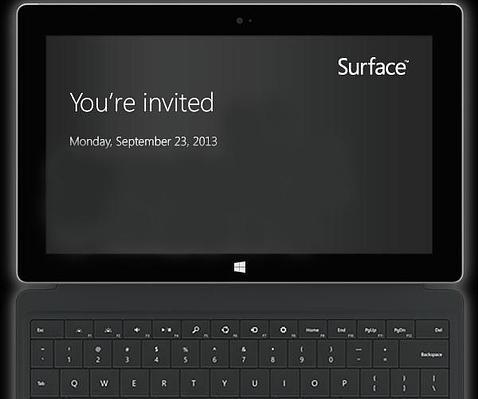 Microsoft presentará una nueva Surface el 23 de septiembre