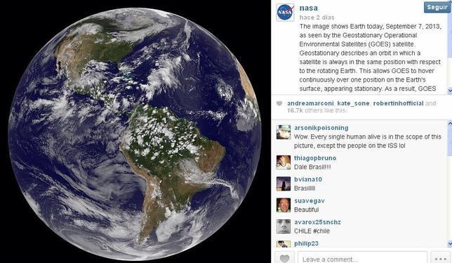 Las más impresionantes imágenes del Universo, en Instagram