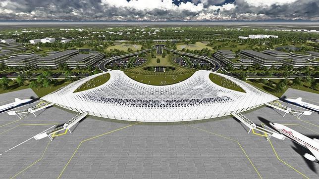 Imagen de la propuesta de Puerto Espacial planteada por el Sistema de Aeropuertos de Houston