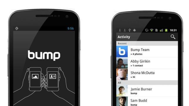 Google compra Bump, una «app» que facilita compartir archivos entre móviles