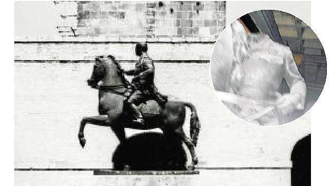 Decapitan una estatua de Franco