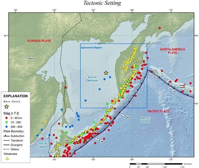 El terremoto bajo el mar de Okhotsk, el más potente jamás registrado