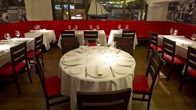 Sala del restaurante Cañadío, en Madrid