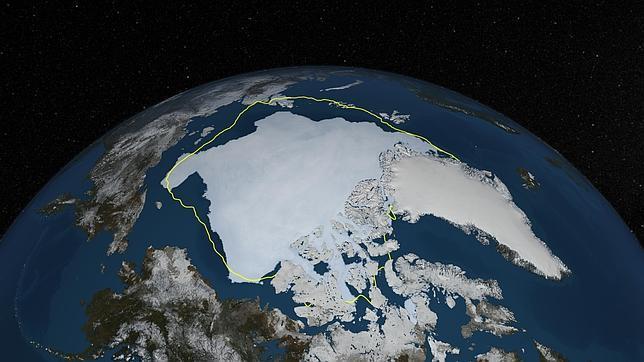 El hielo del Ártico tras el verano supera en un 50% al del pasado año
