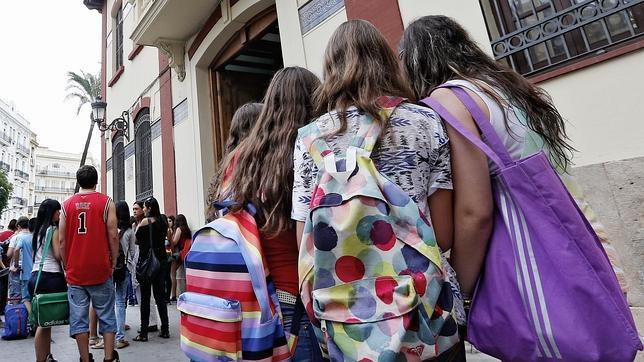 Primer día de curso en un instituto de Valencia