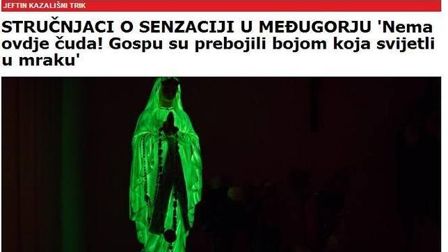 Descubren que el milagro de la Virgen de Medjugorje se debe a una sustancia fluorescente