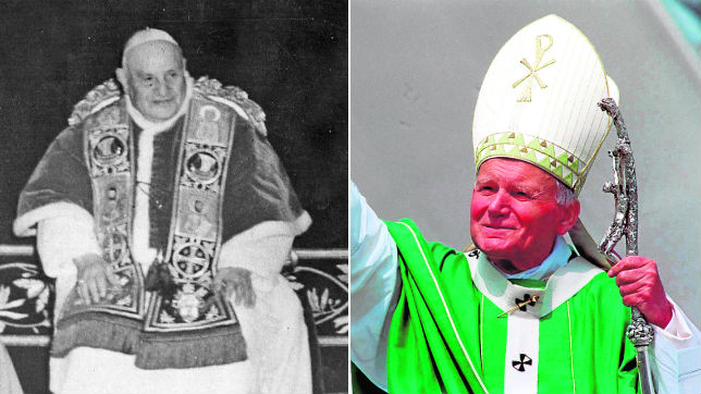 Juan XXIII y Juan Pablo II serán proclamados santos a la vez