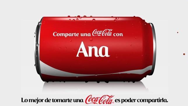 En busca de la Coca-Cola con tu nombre