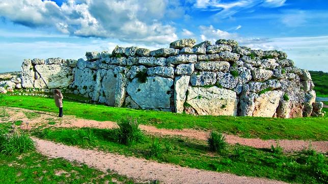 En Ggantija, las colosales rocas se superpusieron sin ser labradas