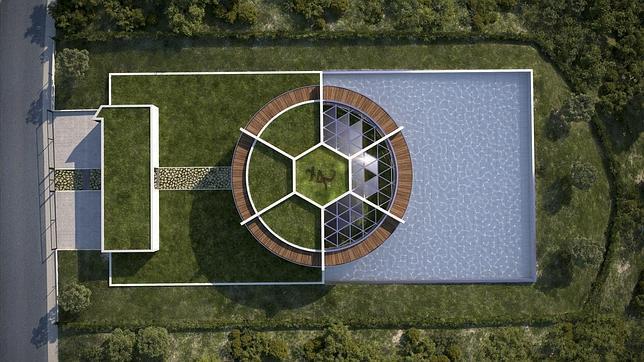 Messi se construye una mansi n como un campo de f tbol for Piscinas garrido