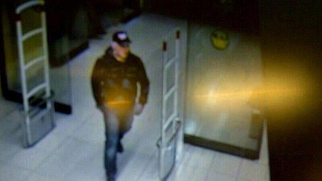 Imagen del atracador entrando al hipermercado