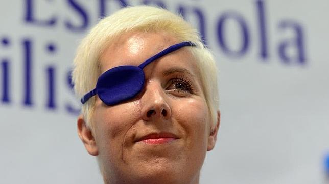 María de Villota reapareció meses después de su grave accidente en julio de 2012, muy recuperada y optimista