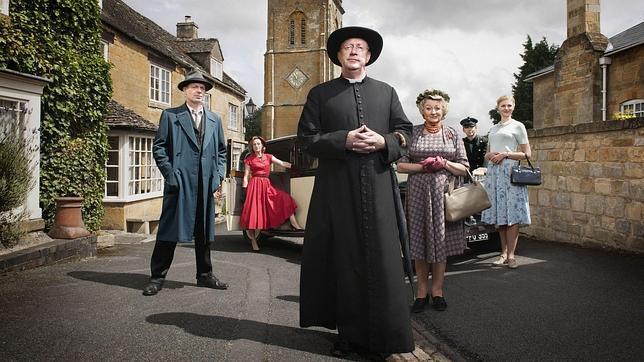 Fotograma de la adaptación que la BBC ha realizado de las aventuras del padre Brown, personaje de Chesterton