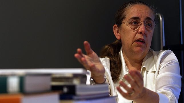 Manuela Mena, durante la entrevista