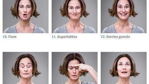 Algunos de los ejercicios para alisar la cara