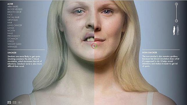 Así se te queda el cuerpo si eres fumador