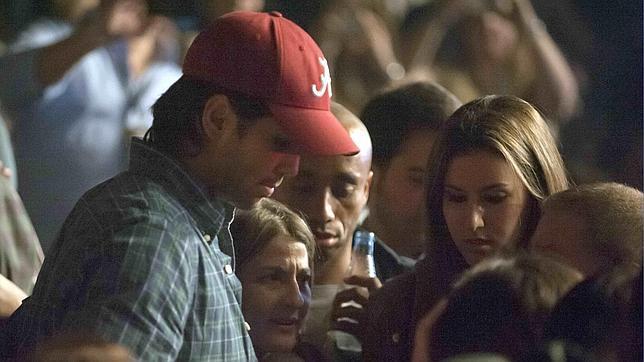 Fernando Verdasco y Ana Boyer, en el concierto de Enrique Iglesias en el que se conocieron