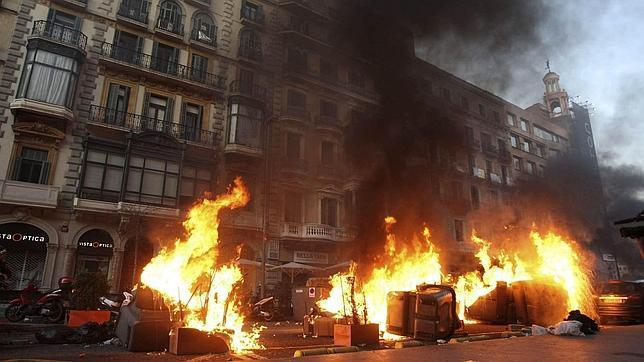 El 29-M, los incidentes «más graves» desde la II República