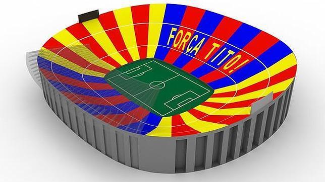«Força Tito!», el homenaje del Camp Nou a Vilanova durante el clásico