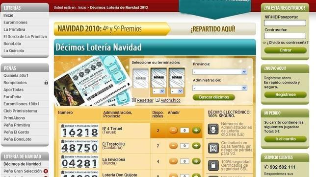 Loteria de navidad 2013 comprar numero online dating