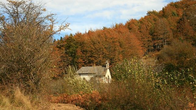 La ermita de la Virgen de las Nieves, cerca de Ochagavía