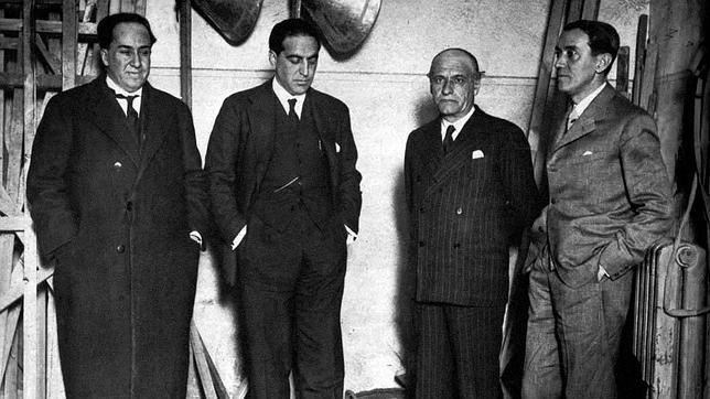 Antonio Machado, Gregorio Marañón, Ortega y Gasset y Pérez de Ayala, impulsores de la Agrupación al Servicio de la República