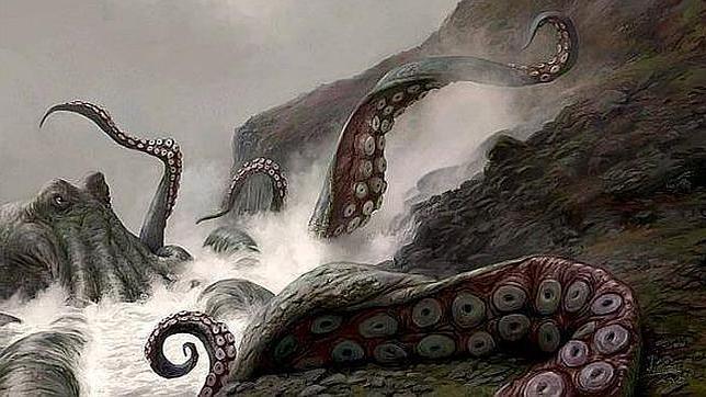 El descomunal kraken enseña sus fauces