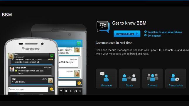 Blackberry Messenger, el servicio de mensajería instantánea